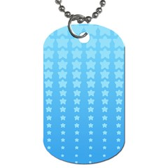Blue Stars Background Dog Tag (two Sides) by Jojostore