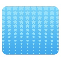 Blue Stars Background Double Sided Flano Blanket (small)