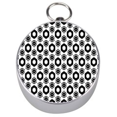 Background Pattern Silver Compasses