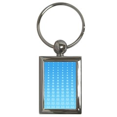 Blue Stars Background Line Key Chains (rectangle)  by Jojostore
