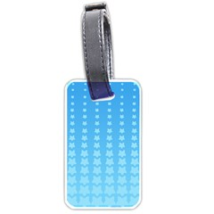Blue Stars Background Line Luggage Tags (one Side)  by Jojostore