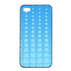 Blue Stars Background Line Apple Iphone 4/4s Seamless Case (black) by Jojostore
