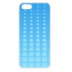 Blue Stars Background Line Apple Iphone 5 Seamless Case (white) by Jojostore