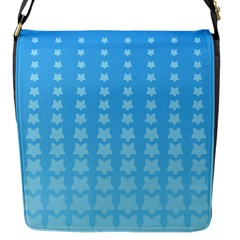 Blue Stars Background Line Flap Messenger Bag (s) by Jojostore