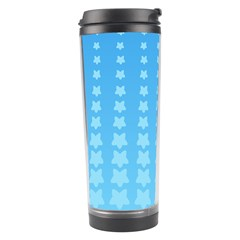 Blue Stars Background Line Travel Tumbler by Jojostore