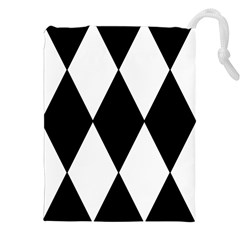 Chevron Black Copy Drawstring Pouches (xxl) by Jojostore