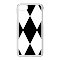 Chevron Black Copy Apple Iphone 7 Seamless Case (white)