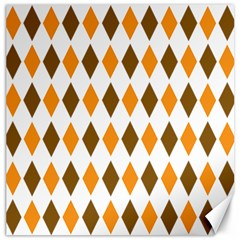 Brown Orange Retro Diamond Copy Canvas 12  X 12   by Jojostore