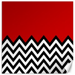 Chevron Red Canvas 20  X 20   by Jojostore