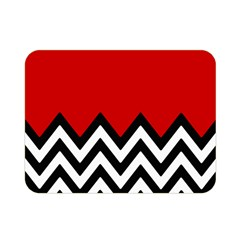 Chevron Red Double Sided Flano Blanket (mini)