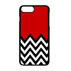 Chevron Red Apple Iphone 7 Plus Seamless Case (black)
