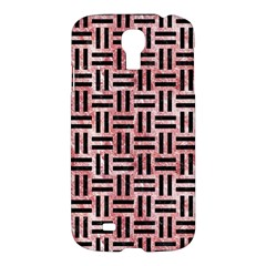 Woven1 Black Marble & Red & White Marble (r) Samsung Galaxy S4 I9500/i9505 Hardshell Case by trendistuff