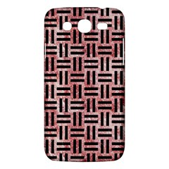 Woven1 Black Marble & Red & White Marble (r) Samsung Galaxy Mega 5 8 I9152 Hardshell Case