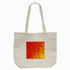 Color Minimalism Red Yellow Tote Bag (cream)