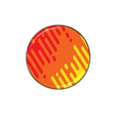 Color Minimalism Red Yellow Hat Clip Ball Marker (4 Pack)