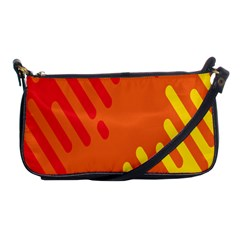 Color Minimalism Red Yellow Shoulder Clutch Bags by Jojostore