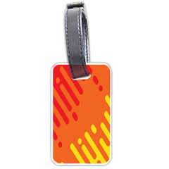 Color Minimalism Red Yellow Luggage Tags (one Side)  by Jojostore