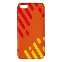 Color Minimalism Red Yellow Apple Iphone 5 Premium Hardshell Case by Jojostore