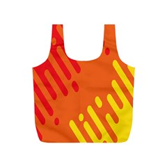 Color Minimalism Red Yellow Full Print Recycle Bags (s)  by Jojostore