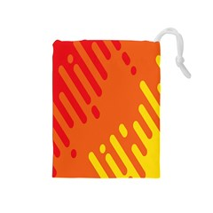 Color Minimalism Red Yellow Drawstring Pouches (medium)