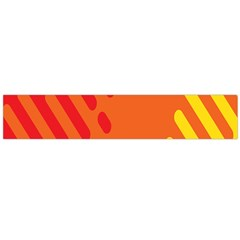Color Minimalism Red Yellow Flano Scarf (large) by Jojostore
