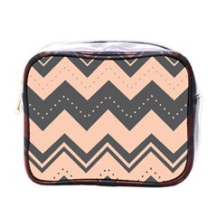 Chevron Ideas Gray Colors Combination Mini Toiletries Bags