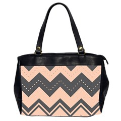 Chevron Ideas Gray Colors Combination Office Handbags (2 Sides)