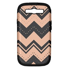 Chevron Ideas Gray Colors Combination Samsung Galaxy S Iii Hardshell Case (pc+silicone)