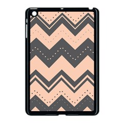 Chevron Ideas Gray Colors Combination Apple Ipad Mini Case (black)