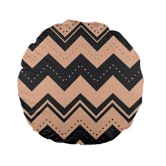 Chevron Ideas Gray Colors Combination Standard 15  Premium Flano Round Cushions