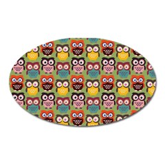 Eye Owl Colorful Cute Animals Bird Copy Oval Magnet by Jojostore