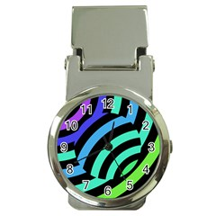 Colorful Roulette Ball Money Clip Watches