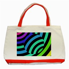 Colorful Roulette Ball Classic Tote Bag (red) by Jojostore