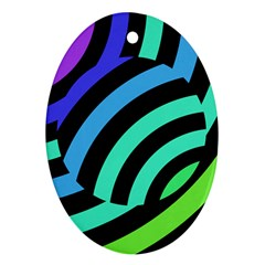 Colorful Roulette Ball Oval Ornament (two Sides)