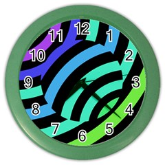 Colorful Roulette Ball Color Wall Clocks by Jojostore