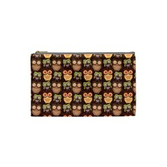 Eye Owl Line Brown Copy Cosmetic Bag (small)