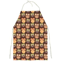 Eye Owl Line Brown Copy Full Print Aprons