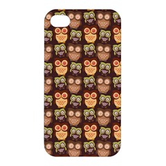 Eye Owl Line Brown Copy Apple Iphone 4/4s Hardshell Case by Jojostore