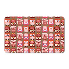 Eye Owl Colorfull Pink Orange Brown Copy Magnet (rectangular) by Jojostore