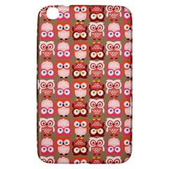 Eye Owl Colorfull Pink Orange Brown Copy Samsung Galaxy Tab 3 (8 ) T3100 Hardshell Case  by Jojostore
