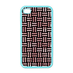 Woven1 Black Marble & Red & White Marble Apple Iphone 4 Case (color)