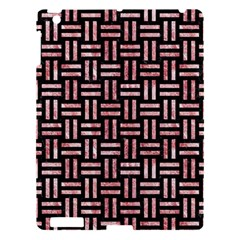 Woven1 Black Marble & Red & White Marble Apple Ipad 3/4 Hardshell Case by trendistuff