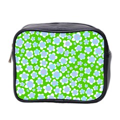 Flower Green Copy Mini Toiletries Bag 2 Side