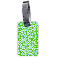 Flower Green Copy Luggage Tags (one Side)