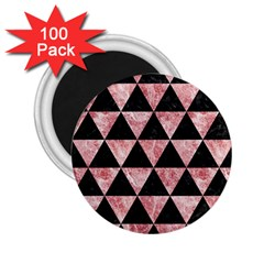 Triangle3 Black Marble & Red & White Marble 2 25  Magnet (100 Pack)