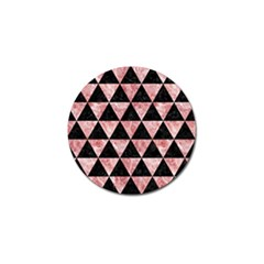 Triangle3 Black Marble & Red & White Marble Golf Ball Marker by trendistuff