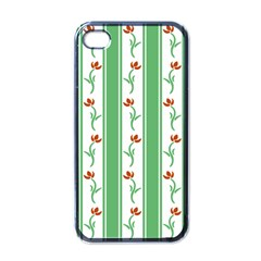 Flower Background Green Apple Iphone 4 Case (black)