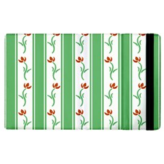 Flower Background Green Apple Ipad 2 Flip Case by Jojostore