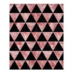 Triangle3 Black Marble & Red & White Marble Shower Curtain 60  X 72  (medium) by trendistuff