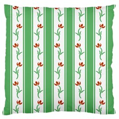 Flower Background Green Standard Flano Cushion Case (two Sides) by Jojostore